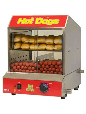 Winco 60048 Benchmark Hot Dog Steamer/Merchandiser, Holds 164 Hog Dogs, 120V