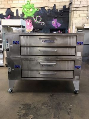 Bakers Pride Y-602  Natural Gas 6 Pie Double Stacked Pizza Oven  (USED)