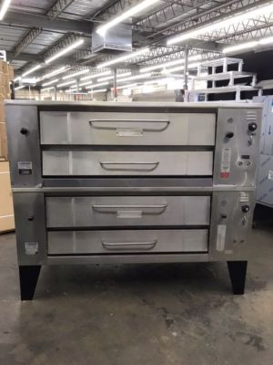 Bari M.648.L Natural Gas 6 Pie Double Stacked Pizza Oven (USED)