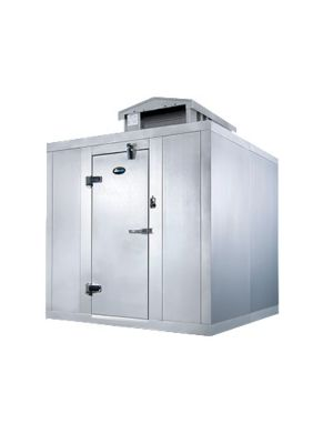 """AmeriKooler QF060677**FBSM-O Quick Ship Outdoor Walk-In Freezer, Self Contained, With Floor 5'10""""x5'10""""x7'7"""" - FREIGHT NOT INCLUDED"""
