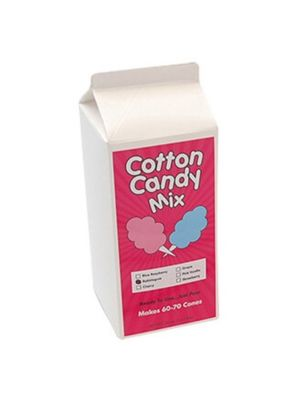 Winco 82003 Benchmark 3-1/4 lbs. of Cotton Candy Sugar - Cherry