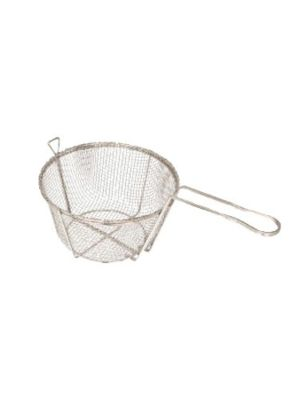 "Winco FBR-8 8 1/2"" Diameter Mesh Wire Fry Basket"