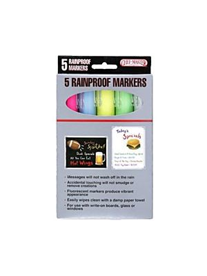 Chef Master 90032 Rain Proof Neon Colored Markers- 1 Pack