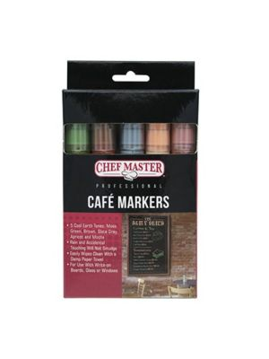 Chef Master 90245 Cafe Colored Markers- 1 Pack