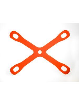 """Mercer Culinary M18930 15-3/8"""" x 11-3/8"""" Orange Silicone Board Buddyz Cutting Board Holder"""