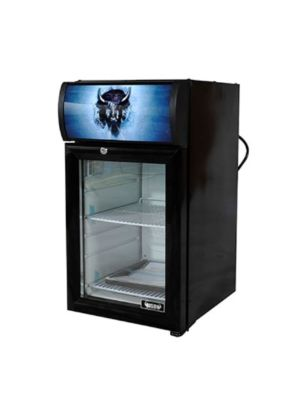 Bison BRM-.74  Countertop Glass Door Reach-In Refrigerator Merchandiser .75 cu. ft.