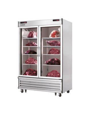 "Everest EDA2 Two Section Glass Door Meat Aging and Thawing Cabinet 48 Cu Ft""   FREE SHIPPING WITH LIFT GATE!"