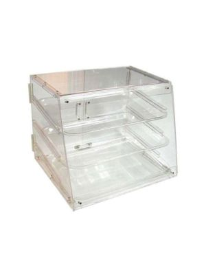 "Winco ADC-3 Acrylic 18"" 3-Tier Countertop Display Case"