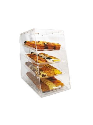 "Winco ADC-4 Acrylic 24"" 4-Tier Countertop Display Case"