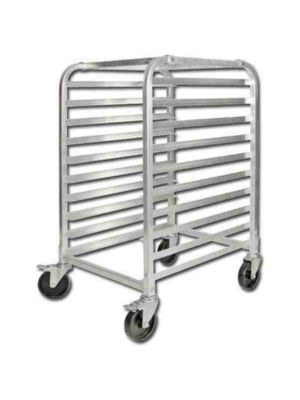 Winco ALRK-10BK Aluminum 10 Tier Sheet Pan Rack with Brake