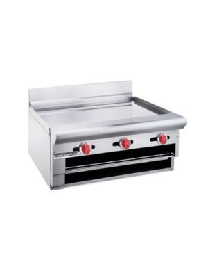 "American Range ARGB-60 60"" Wide Countertop Natural Gas Raised Griddle/Broiler 3/4"" Thick Plate - 100,000 BTU"