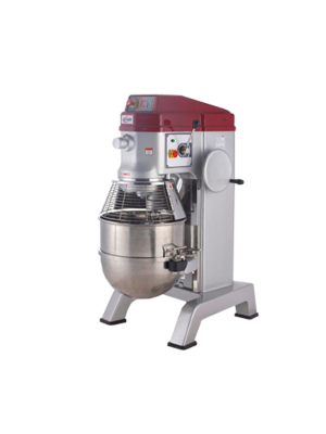 MVP Group Axis AX-M60 60 Quart Planetary Mixer  SS Bowl, Flat Beater, Wire Whip, Spiral Dough Hook, 220V, 1 Phase