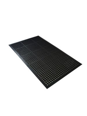 "Axia AFD366034BR 36""x 60"" Black Slip Resistant Anti-Fatigue Floor Mat - 3/4 Thick"