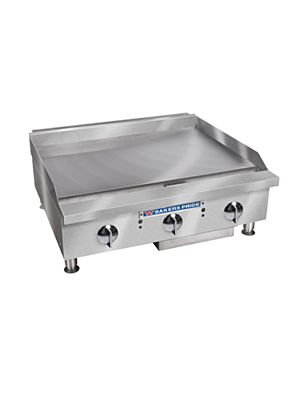"Bakers Pride BPHMG-2424I Heavy Duty Gas Countertop Griddle with Manual Controls Gas 24"" - 64,000 BTU"