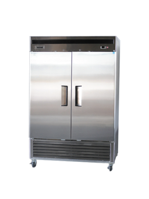 Bison BRF-46 Two Door Stainless Reach-In Freezer 46 Cu FT
