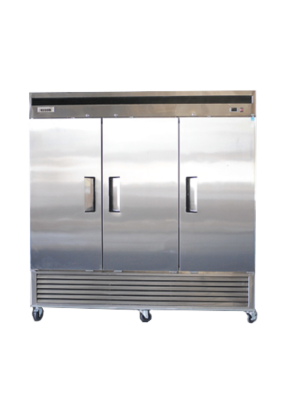 Bison BRF-71 Three Door Stainless Reach-In Freezer 71 CU FT