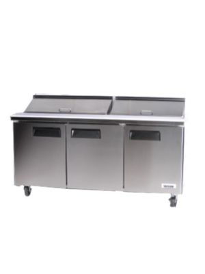 Bison BST‐72 SANDWICH / SALAD PREPARATION REFRIGERATOR 22.6 cu. ft.,