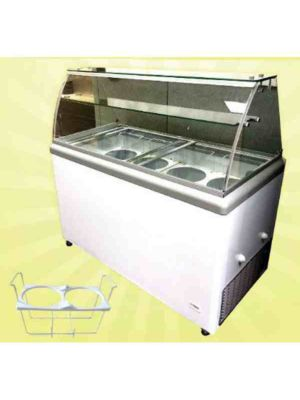 "Nordon SD450SSG-HC 51.7"" W Dipping Cabinet with Cubed Canopy - Holds 8 tubs"