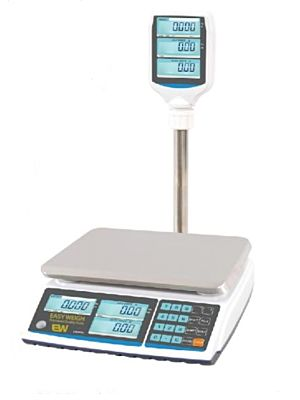 Easy Weigh SP-60PLUS 60 lb. Electronic Price Computing Scale with Pole Display