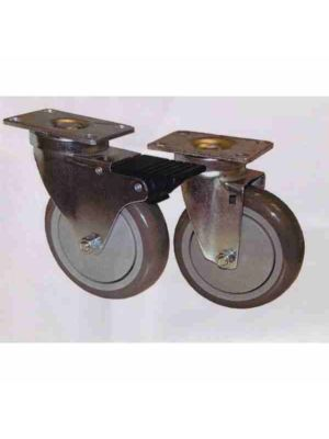 "Caster Set (4ea) W / Brake, 5"" Wheel Diameter"
