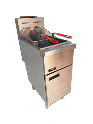 Copper Beech CBF-50-LP 50 lb. Liquid Propane Gas Fryer - 120,000 BTU