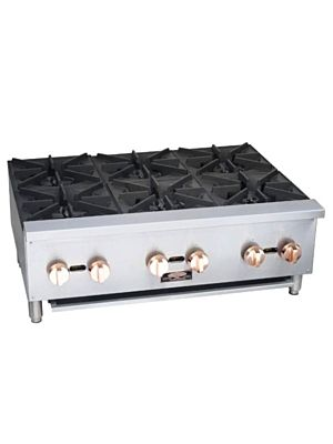 "Copper Beech CBHP-12-2 12"" Wide Gas Hotplate with 2 Open Burners 50,000 BTU"