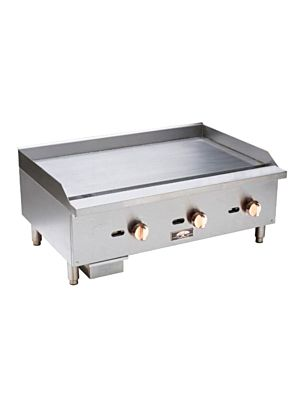 "Copper Beech CBMG-16 16"" Wide Manual Gas Griddle 30,000 BTU"