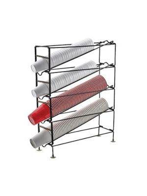 Winco CDR-4 Four Tier Countertop Cup Dispensing Rack