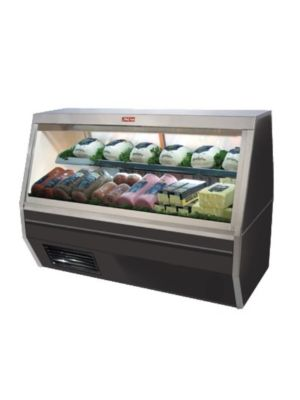 "Howard McCray SC-CDS35-6-BE-LED Refrigerated Deli Case - Double Duty 71"" (Black)"