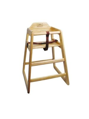 "Winco CHH-101A 20"" Height Natural Finish Wood Assembled High Chair"
