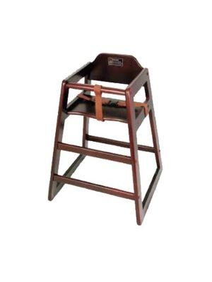 "Winco CHH-103A 20"" Height Mahogany Wood Assembled High Chair"