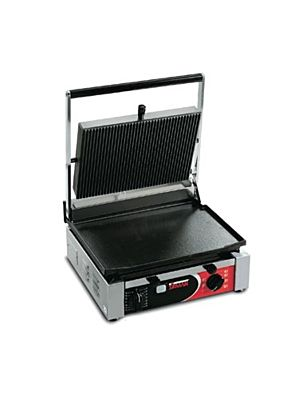 Sirman CORT L Sandwich / Panini Grill with Cast Iron Grooved Top & Flat Bottom Surfaces