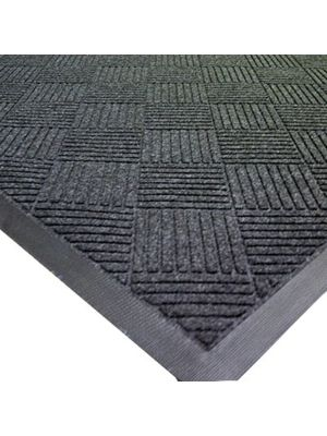 "Axia EMD3660C 36""x 60"" Charcoal Slip Resistant Welcome Floor Mat - 3/8 Thick"