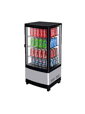 Turbo Air CRT-77-1R-N Countertop Refrigerated Diamond Glass Merchandiser - FREE SHIPPING WITHOUT LIFTGATE
