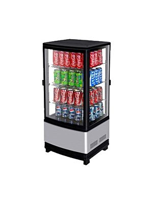 Turbo Air CRT-77-2R-N Countertop Pass-Through Refrigerated Diamond Glass Merchandiser - FREE SHIPPING WITHOUT LIFTGATE