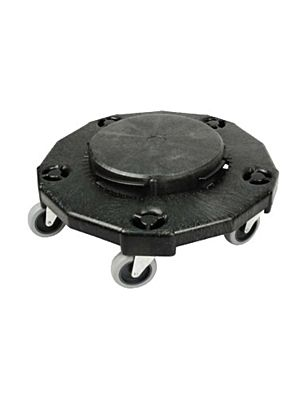 Winco DLR-2 Black Dolly for Round Trash Can