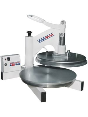 DoughXpress DMS-2-18 Manual Pizza Dough Press with Dual Heat