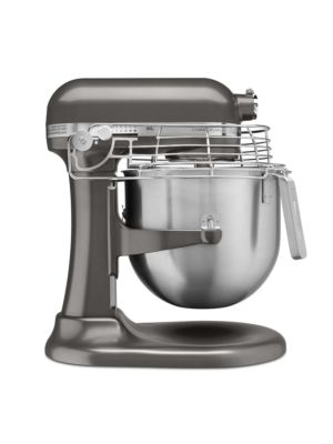 Kitchen Aid KSMC895DP Commercial Countertop 8 Quart Mixer including Bowl with Lift, Hook, Flat Beater, Whip, and Bowl Guard - Dark Pewter