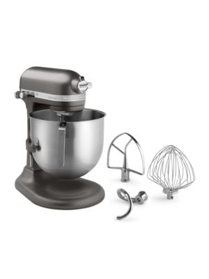 Kitchen Aid KSM8990DP Commercial Countertop 8 Quart Mixer including Bowl with Lift, Hook, Flat Beater and Whip - Dark Pewter