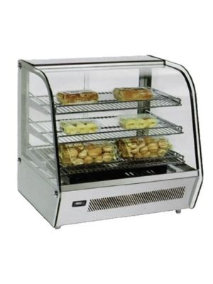 "Omcan DW-CN-0120 (39535) 26.75"" Countertop Heated Glass Display Case"