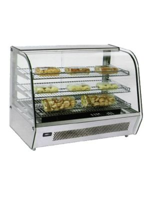 "Omcan DW-CN-0160 (39536) 33.75"" Countertop Heated Glass Display Case"