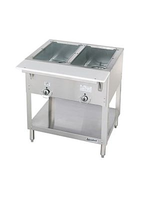 "Duke Aerohot E302 Two (2) Well 30 3/8""W Electric Steam Table -120V/1PH"