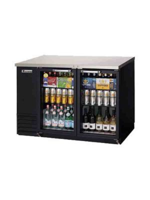 "Everest EBB48G-24 Back Bar Refrigerated Cabinet, 2 Glass Doors - 49"" Wide    FREE SHIPPING WITH LIFT GATE!"