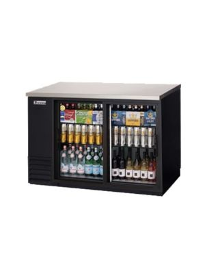 "Everest EBB48G-SD Double Sliding Door Back Bar Cooler 48"" - FREE SHIPPING WITH LIFT GATE!"