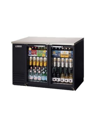 "Everest EBB48G Double Door Glass Back Bar Cooler 48"" - FREE SHIPPING WITH LIFT GATE!"