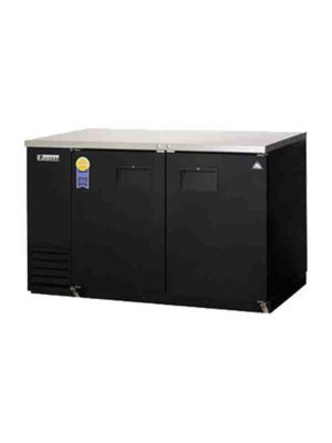 "Everest EBB59-24 Back Bar Refrigerated Cabinet 2 Section - 59"" Wide  FREE SHIPPING WITH LIFT GATE!"