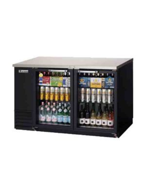 "Everest EBB59G-24 Back Bar Refrigerated Cabinet, 2 Glass Doors - 57.75"" Wide      FREE SHIPPING WITH LIFT GATE!"