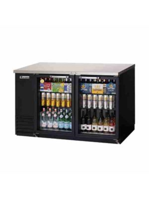 "Everest EBB59G Double Glass Door Back Bar Cooler 57.75""   FREE SHIPPING WITH LIFT GATE!"