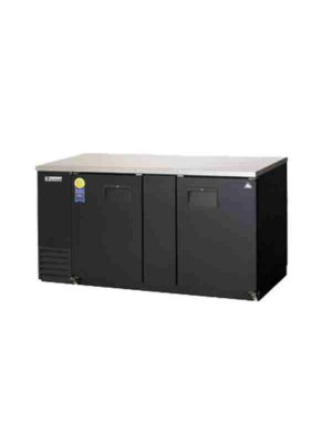 "Everest EBB69-24 Back Bar Refrigerated Cabinet 2 Section - 69"" Wide  FREE SHIPPING WITH LIFT GATE!"