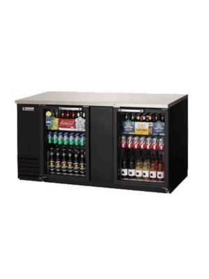 "Everest EBB69G-24 Back Bar Refrigerated Cabinet, 2 Glass Doors - 68"" Wide   FREE SHIPPING WITH LIFT GATE!"
